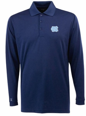 North Carolina Mens Long Sleeve Polo Shirt (Color: Navy)