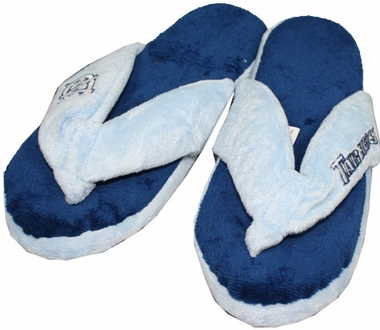 North Carolina Plush Thong Slippers