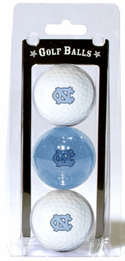 North Carolina Set of 3 Multicolor Golf Balls