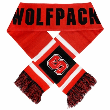 North Carolina State Wolfpack 2012 Team Stripe Knit Scarf