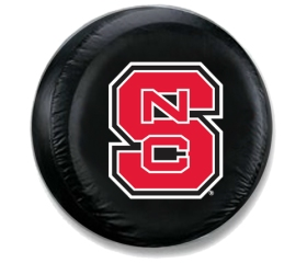 North Carolina State Wolfpack Black Tire Cover - Standard Size