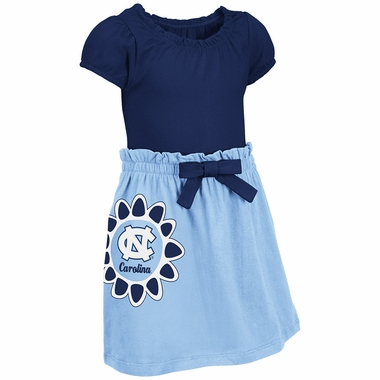 North Carolina Tarheels NCAA Toddler Girls Daisy Dress