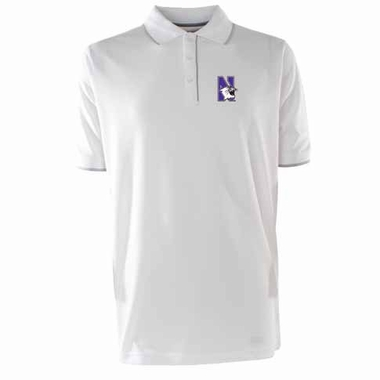 Northwestern Mens Elite Polo Shirt (Color: White)