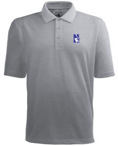 Northwestern Mens Pique Xtra Lite Polo Shirt (Color: Gray) - Medium