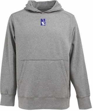 Northwestern Mens Signature Hooded Sweatshirt (Color: Silver)