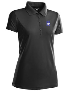 Northwestern Womens Pique Xtra Lite Polo Shirt (Color: Black) - Large
