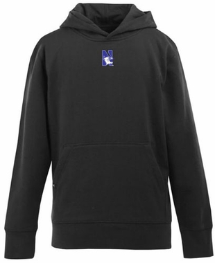 Northwestern YOUTH Boys Signature Hooded Sweatshirt (Color: Black)