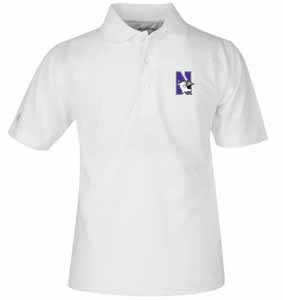 Northwestern YOUTH Unisex Pique Polo Shirt (Color: White) - X-Small