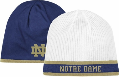 Notre Dame Adidas Cuffless Reversible Player Knit Hat