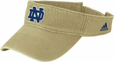 Notre Dame Basic Logo Adjustable Visor (Gold)