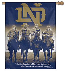 "Notre Dame Fighting Irish 27""x37"" Banner - Four Horsemen"