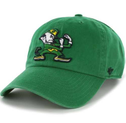 0df889a0274bc Notre Dame Fighting Irish 47 Brand Clean Up Adjustable Hat - Green