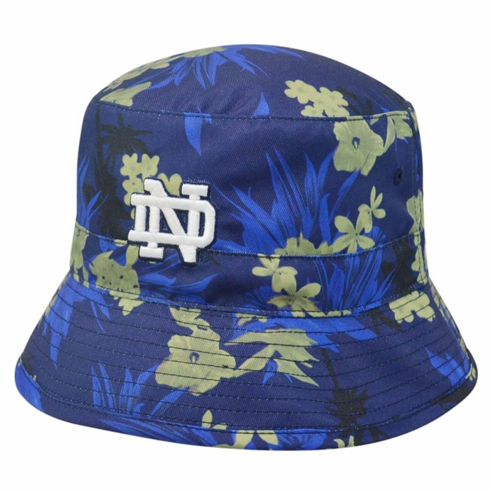 e63c82a8f8f Notre Dame Fighting Irish Top of the World Luau Floral Print Bucket Hat