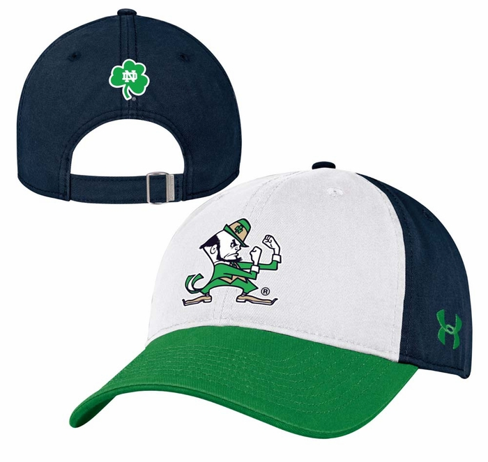 Notre Dame Fighting Irish Under Armour Adjustable Slouch Leprechaun Hat 3a0fa727a32