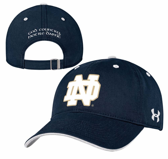 the best attitude 8cce3 25bf1 Notre Dame Fighting Irish Under Armour Structured Adjustable Hat - Navy