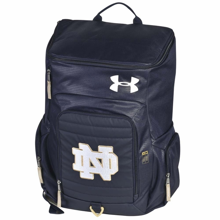Notre Dame Fighting Irish Under Armour Undeniable Premium Backpack - Navy f944d69b1b