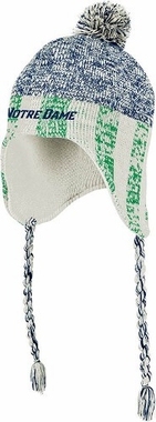 Notre Dame Heathered Tassel Pom Knit Hat