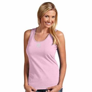 Notre Dame Womens Sport Tank Top (Color: Pink)