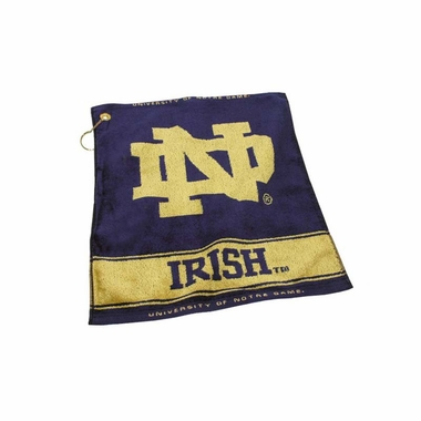Notre Dame Woven Golf Towel
