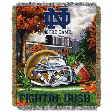 Notre Dame Woven Tapestry Blanket