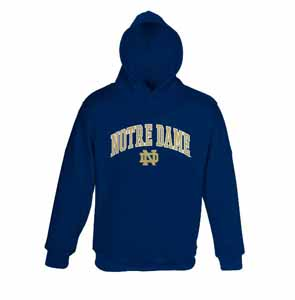 Notre Dame YOUTH Hooded Sweatshirt (Navy) - Large