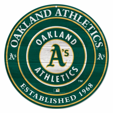 Oakland Athletics 19.75 Inch Wood Sign
