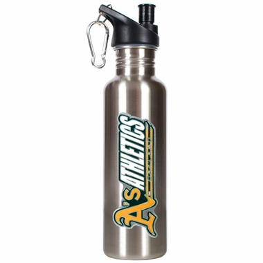 Oakland Athletics 26oz Stainless Steel Water Bottle (Silver)