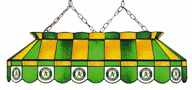 Oakland Athletics 40 Inch Rectangular Stained Glass Billiard Light