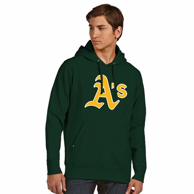 Oakland Athletics Mens Big Logo Signature Hooded Sweatshirt (Color: Green)