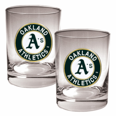 Oakland Athletics Double Rocks Set