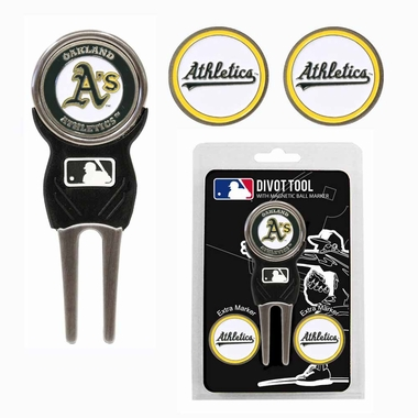 Oakland Athletics Repair Tool and Ball Marker Gift Set
