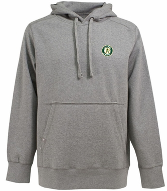 Oakland Athletics Mens Signature Hooded Sweatshirt (Color: Gray)