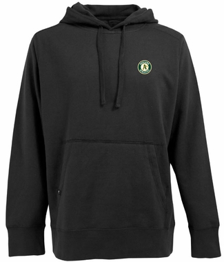 Oakland Athletics Mens Signature Hooded Sweatshirt (Color: Black)