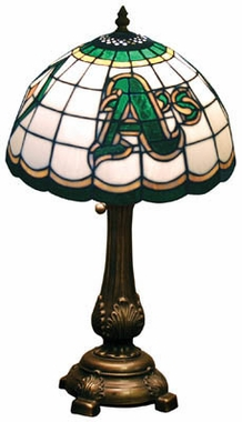 Oakland Athletics Stained Glass Table Lamp