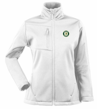 Oakland Athletics Womens Traverse Jacket (Color: White)