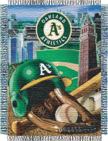 Oakland Athletics Woven Tapestry Throw Blanket