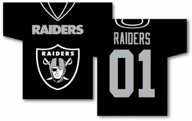Oakland Raiders 2 Sided Jersey Banner Flag (F)