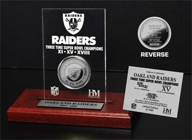 Oakland Raiders Oakland Raiders 3x SB Champs Etched Acrylic