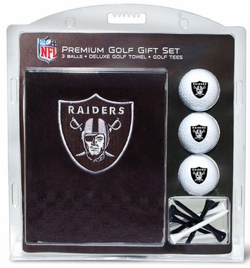 Oakland Raiders Embroidered Towel Golf Gift Set