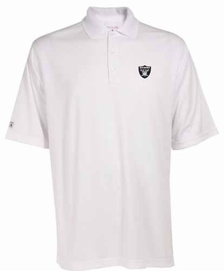 Oakland Raiders Mens Exceed Polo (Color: White)