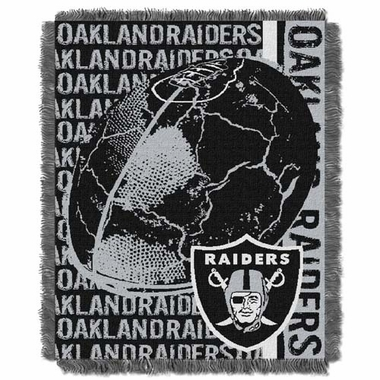 Oakland Raiders Jacquard Woven Throw Blanket