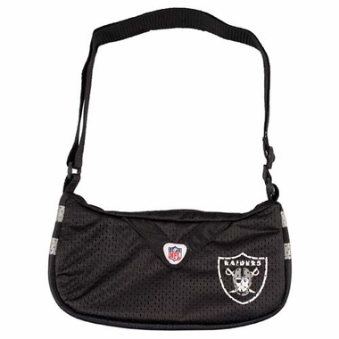 Oakland Raiders Jersey Material Purse