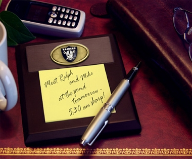 Oakland Raiders Memo Pad Holder