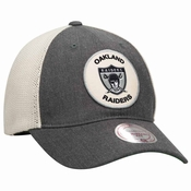 fbdb2551fe8 Oakland Raiders Mitchell   Ness Patch Mesh Back Slouch Adjustable Hat