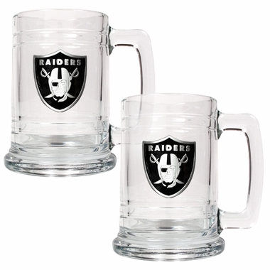 Oakland Raiders Set of 2 15 oz. Tankards