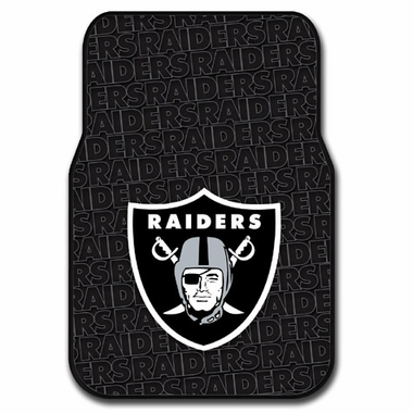 Oakland Raiders Set of Rubber Floor Mats