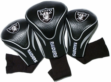 Oakland Raiders Set of Three Contour Headcovers