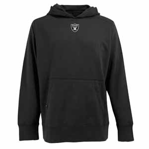 Oakland Raiders Mens Signature Hooded Sweatshirt (Color: Black) - Large