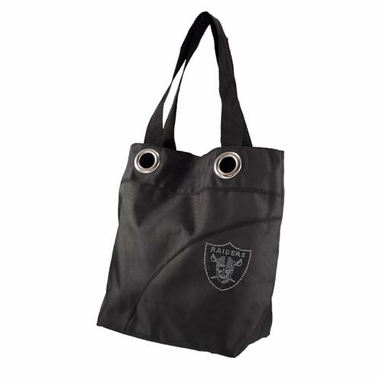 Oakland Raiders Sport Noir Sheen Tote