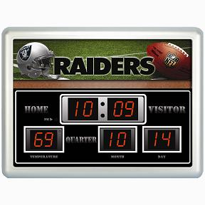 Oakland Raiders Time / Date / Temp. Scoreboard